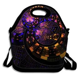Abstract Fractal Circle Colorful Kids Insulated School Trave