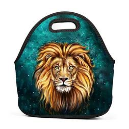 Abstract Lion Head Oil Painting Insulated Thermal Cooler Lun