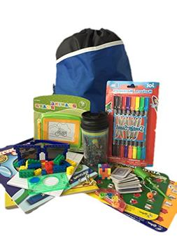 Travel Activity Bag Kit for Kids - Keep Children Busy on the