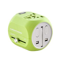BRIGHTWORLD Travel Adapter, Worldwide All in One Universal T