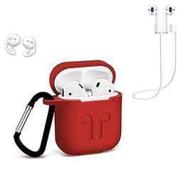 LEETOYI AirPods Silicone Case 4 in 1 Airpods Accessories Kit