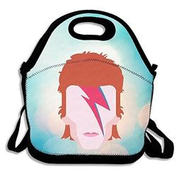 Bakeiy Aladdin Sane Logo Lunch Tote Bag Lunch Box Neoprene T