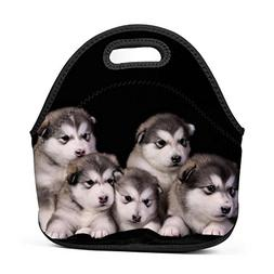 Family Dream Alaskan Malamute Baby Lunch Bag Portable Handba