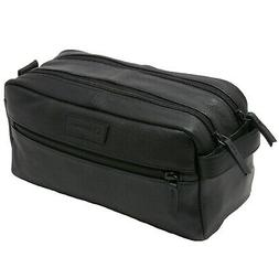 AlpineSwiss Sedona Toiletry Bag Genuine Leather Shaving Kit