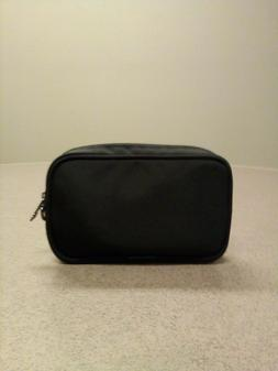 Tumi Amenity Kit Travel Black Nylon Cosmetic Make Up ID Bag