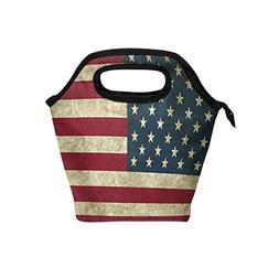 ALAZA American Flag Insulated Lunch Tote Bag, Classic July 4