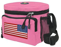 American Flag Lunch Bag Womens & Girls Deluxe USA Flag Lunch