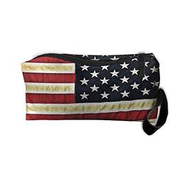 American Flag Vintage Handy Storage Pouch Travel Makeup Bag