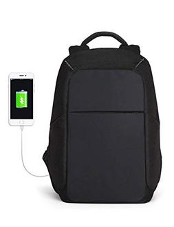 ZLHW 15.6 inch Anti Theft Laptop Backpack USB Charging Port