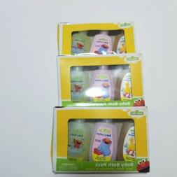 Baby Bath Travel Kit Baby Wash Shampoo Lotion LOT 9pc Sesame