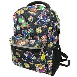 """Super Mario Backpack All Over Print Full Size 16"""""""