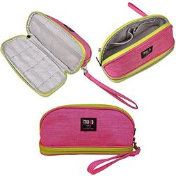 Makeup Bag/BUBM Double Layers Travel Cosmetic Pouch,Small Po