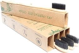 Natural Alt Bamboo Charcoal Toothbrush - 4 Pack, Eco Friendl