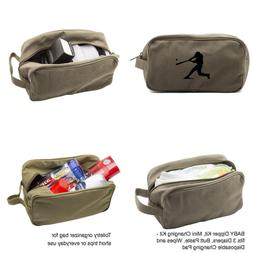 Baseball Player Canvas Shower Kit Travel Toiletry Bag Case i