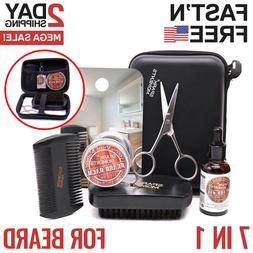 Beard Care Kit Tool Set Grooming Balm Oil Mustache Products