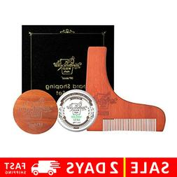 Beard Shaping Tool And Brush Kit - Small Travel +Wooden 2DAY