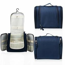 Blue Hanging Toiletry Bag Travel Cosmetic Kit Large Essentia