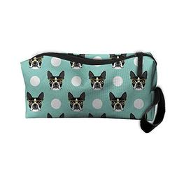 Boston Terrier Dog Blue Cute Multifunction Portable Make-up