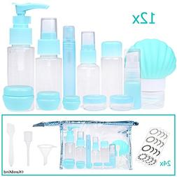 Travel Bottle Set - Refillable - TSA/Airline Approved - 12 B