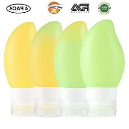 BNY Travel Bottle Set Leakproof Silicone Travel Bottle Kits