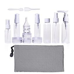 Mudder Travel Bottle Set Travel Size Toiletries Liquid Conta