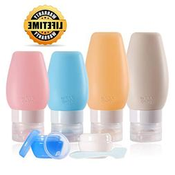 Chamch Travel Bottles Set, Leakproof Silicone Refillable Tra