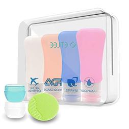 ETLEE Travel Bottles Set Silicone Portable Containers Leak p