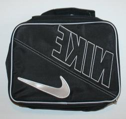 Nike Boys Black Swoosh Insulated Lunch Box, One Size