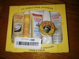 BRAND NEW IN BOX Essential Burt's Bees Kit with 5 Travel Siz