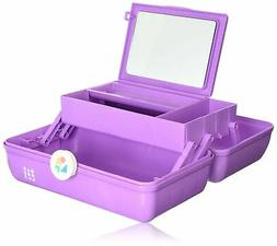Brand New Caboodles On-the-Go Girl Purple Marble Vintage Cas