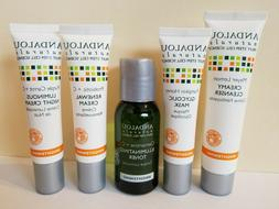 Andalou Naturals Brightening 5 Piece Kit Travel Size No box