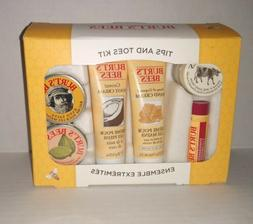 Burt's Bees Tips and Toes Kit Gift Set, 6 Travel Size Produc