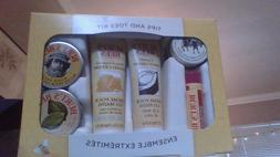 Burt's Bees Tips and Toes Kit Holiday Gift Set, 6 Travel Siz