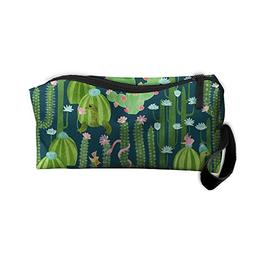 GNMB Cactus With Turtle Snake Handaes Portable Toiletry Cosm