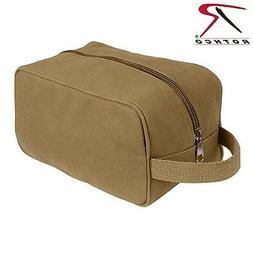 Rothco Canvas Travel Kit - Coyote Brown Canvas Toiletry Bag