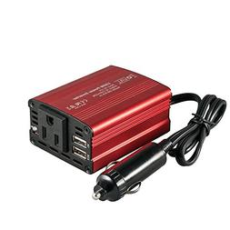 FOVAL 150W Car Power Inverter DC 12V to 110V AC Converter wi
