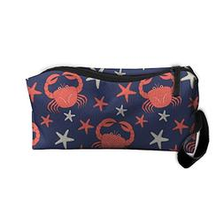 Cartoon Crab And Starfish Handy Storage Pouch Travel Makeup