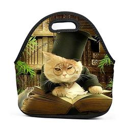 Family Dream Cat Doctor Professor Lunch Bag Portable Tote Be
