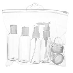 WANDF Clear Toiletry Bag Leakproof Dopp Kit w/ Refillable TS