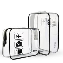 Clear Toiletry Bag TSA Approved Travel Carry On Airport Air