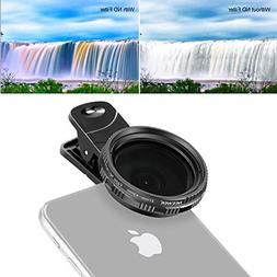 Neewer 37mm Clip-on ND 2-400 Cellphone Camera Lens Filter Ki
