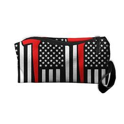 Jessent Coin Pouch Red Line Flag Axe Pen Holder Clutch Wrist