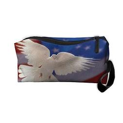 Mr.Roadman Coin Pouch White Dove of Peace Pencil Holder Clut