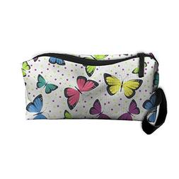 Colorful Butterfly Makeup Bag Zipper Organizer Case Bag Cosm
