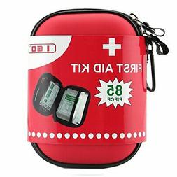 I GO Compact Aid Kit Hard Shell Case for Hiking Camping Trav