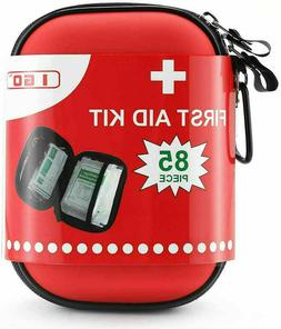 Compact First Aid Kit - Hard Shell Case Hiking, Camping, , C