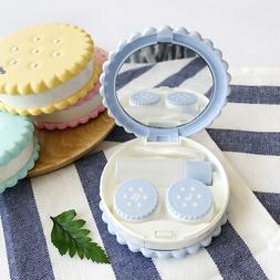 Cute Cartoon Cookies Shape Contact Lens Case Lovely Special