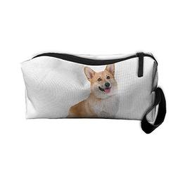 Cute Corgi Dog Pet Makeup Bag Zipper Organizer Case Bag Cosm