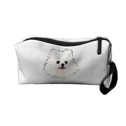 Cute Pomeranian Dog Face Makeup Bag Zipper Organizer Case Ba