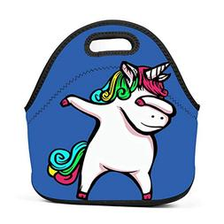 Family Dream Dab Fat Unicorn Lunch Bag Portable Tote Bento P